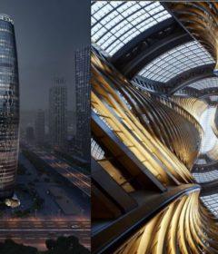 Leeza Soho va avea un efect benefic in cadrul urbanismului modern al capitalei chineze Beijing.