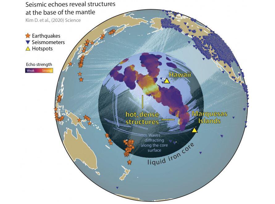 Dispunerea mega-ULVZ-urilor pe glob.